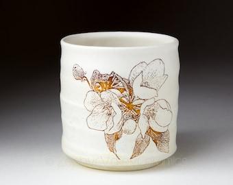 Ceramic Wine Cup - Stoneware Tumbler - Tea Bowl - Yunomi - Juice Cup - Pottery Glass - Handleless Mug