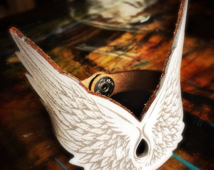 Featured listing image: Angel Wings | Leather cuff | women | Gift for her
