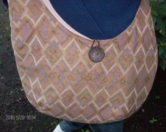 Hobo Bag/ Brown Shoulder Bag/ Crossbody Bag/ Overnight Bag/Sling Bag/ Travel Bag