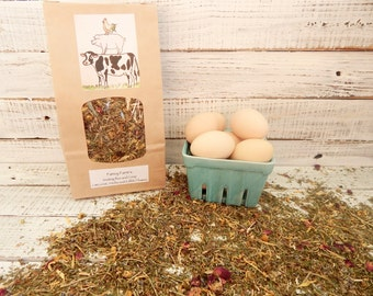 Organic Nesting Box Herbs Flowers, 5 cups, Chicken Coop, Happy Hens, Heathy laying, Pest and rodent prevention, Natural, aromatic, calming