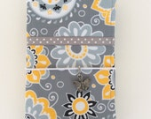CLEARANCE SALE - Yellow Gray Floral Fabric Fauxdori