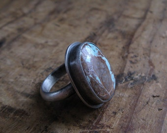 Sterling Silver and American Royston Turquoise Ring Size 7