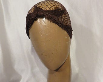 Vintage Hair 1950s 50s Hair Net Turban Swing Rockabilly Deadstock Accessory NOS Hair Style Up Do VLV Pinup