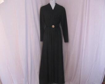 Vintage Black Gown - Little Black Dress size medium
