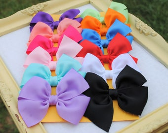 BTS Hairbows - 12 Cute Bows for Girls - 3 Inch Hairbows - Buy 10 Get 2 FREE - Bows for Baby Girl - Sweet Custom Hairbow Set - Back to School