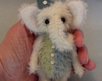 """OOAK artist made elephant """"Buttons"""" - JRB Creations"""