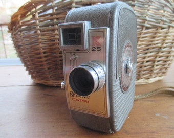 Vintage Keystone Capri Movie Camera w/ original box - Classic Home Movies - FREE SHIPPING