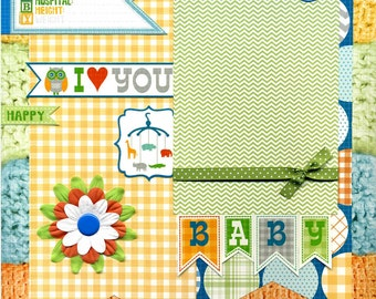 Baby - I Love You - 12x12 Premade Baby Scrapbook Page