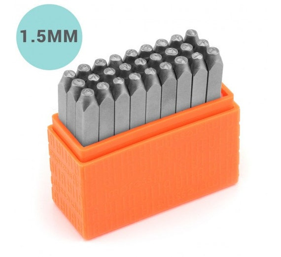Basic UPPERCASE Steel Letter Stamping Set - Block Font - 1/16 in (1.5mm) - for mom message jewelry - metal pr