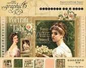 SALE PREORDER Graphic 45 Portrait of a Lady 12x12 Paper Pad