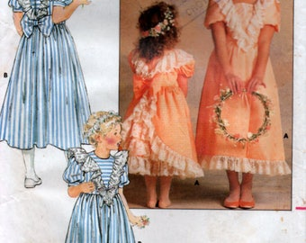 1987 Girls Formal Flowergirl Dress Bridal Sewing Pattern Size 10 party dress