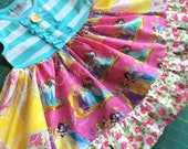 Disney Princess dress Belle Cinderella Rapunzel Momi boutique custom dress