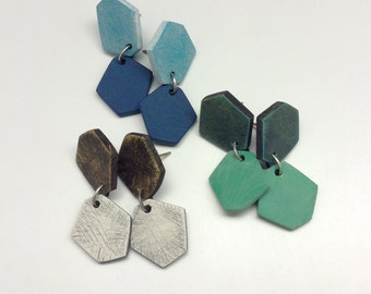 Polygons, geometric jewelry, contemporary earrings