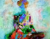 Buddha, original spiritual acrylic painting, abstract art