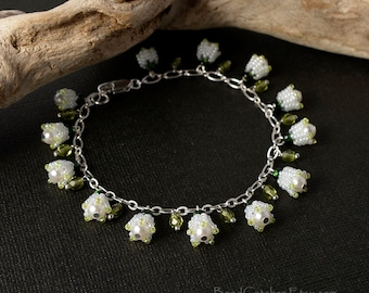 Lily of the valley spring bracelet