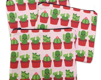 Succulents Zipper Pouch - Coin Purse