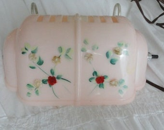 Darling Vintage Bed Lamp Pink with flowers