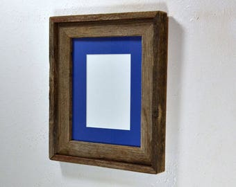 Blue Mat And Frame Etsy