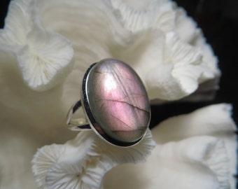 Beautiful Labradorite Ring Size 12.5