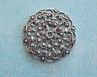 NEW Silver Filigree Finding 3849