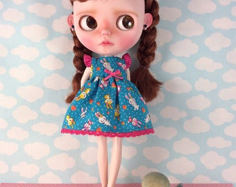 Bunny Dress for Blythe  with Flutter Sleeves
