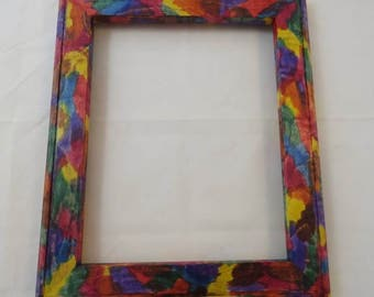 8x10 Curly Maple Picture Frame Tie dye