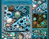 NEWYEARSALE Tide Pool Sun Catcher Tile,  A Polymer Clay PDF Tutorial, Mosaic Tile