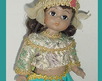 Madame Alexander -Adorable  Thailand Doll - Original Dress - A Cute Vintage One