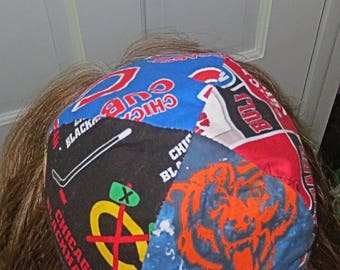 Chicago many teams yarmulke or kippah Cubs Bears Bulls Blackhawks professional sports yamaka great gift for him