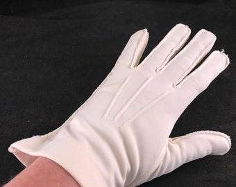 One (1) Pair of Vintage Ladies' Ivory Nylon Gloves
