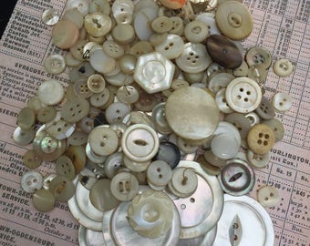 Vintage Mother of Pearl Button Collection