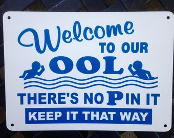 Swimming Pool Signs Etsy