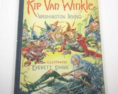 Rip Van Winkle Vintage 1930s Children's Book by Washington Irving Illustrated by Everett Shinn First Edition