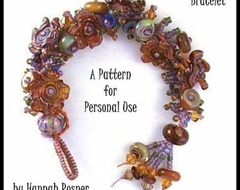 JUST UPDATED - Easy Beading  tutorial Micromacrame Treasure Bracelet instructions pattern - knotting diy beginning level - by Hannah Rosner