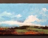 MINI 1665, 0riginal oil painting, landscape, miniature art, 100% charity donation, oil painting on cardboard
