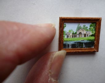 One 48th Scale prints (They are Tiny Wee!!) The Palladian  Bridge at Stowe near Buckingham , England . It is now a Public school .