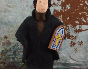 Martin Luther Doll Miniature Collectible Lutheran Church Historical Figure Theology Art