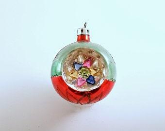 Vintage Christmas Ornament Glass Ornament Indent Poland