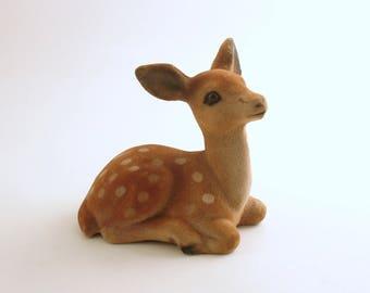 Vintage Deer Figurine Fawn Christmas Decoration