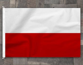 100% Cotton, Stitched Design, Flag of Poland, Made in USA