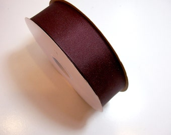Maroon Grosgrain Ribbon 1 1/2 inches wide x 10 yards, Dark Burgundy Ribbon, Offray New Maroon Ribbon, SECOND QUALITY FLAWED