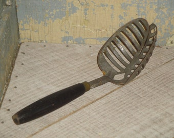 Vintage Skeleton Spoon | Primitive Spoon | Wood Handle Spoon