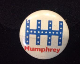 Hubert Humphrey Political Election Campaign Pin