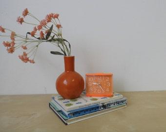 Vintage Westclox Sizzler Orange Dialite Alarm Clock