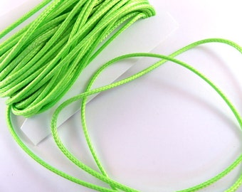 BOGO - 30ft Green Cording Waxed Cotton 2mm - 30 ft - STR9020CD-GR30 - Buy 1, Get 1 Free - No coupon required
