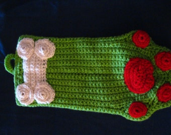 Surprise Your Puppy with a Green Paw Shaped Christmas Stocking Photo Prop