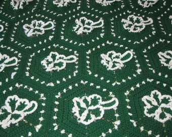Custom Crocheted Shamrock Afghan Gift Present Holiday St Patricks Day Irish St Paddy Made to Order 6-8 weeks Delivery Order Now