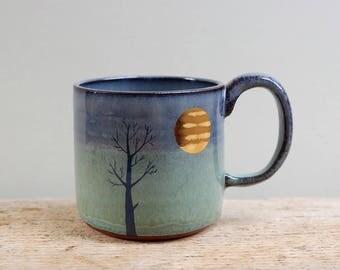 Lighter Gold Moon & Tree Mug