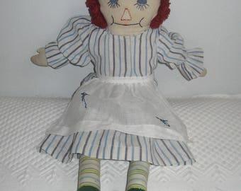 ragedy ann doll . raggedy ann . vintage raggedy ann doll . 1940 raggedy ann doll