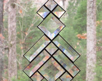 Stained Glass Suncatcher- All Clear Bevels, Southwest Prairie Design